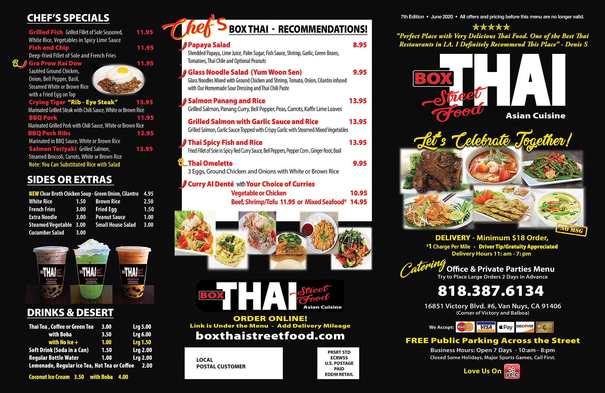 Box Thai Street Food Thai Food